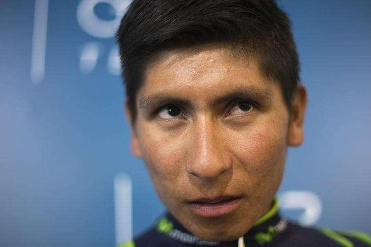 Movistar cyclist Nairo Quintana of Colombia reacts during the presentation of Movistar's cycling team in Madrid January 31, 2014. Foto: Juan Medina/Reuters