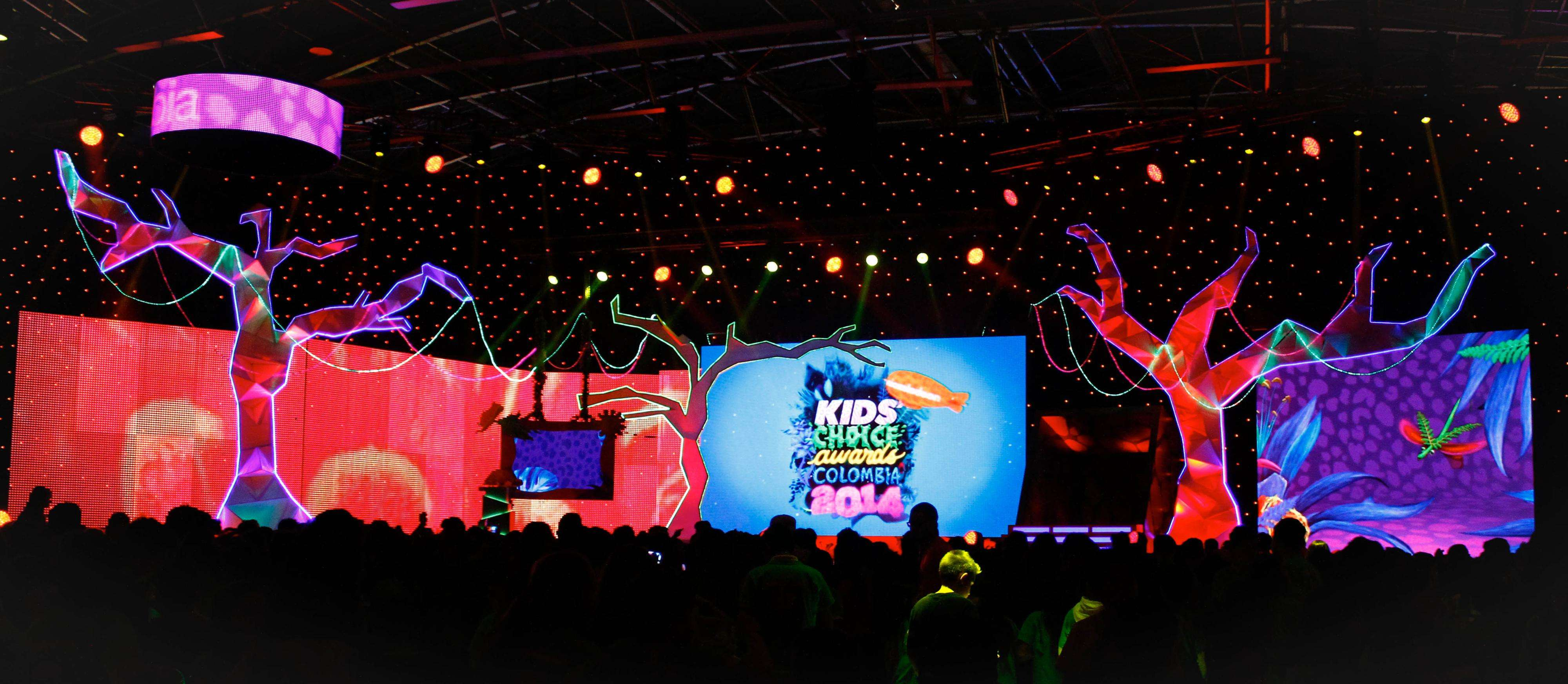 El público disfrutó por primera vez en Colombia los Premios Kids' Choice Awards. Foto: kids Choice Awars Colombia 2014/Prensa