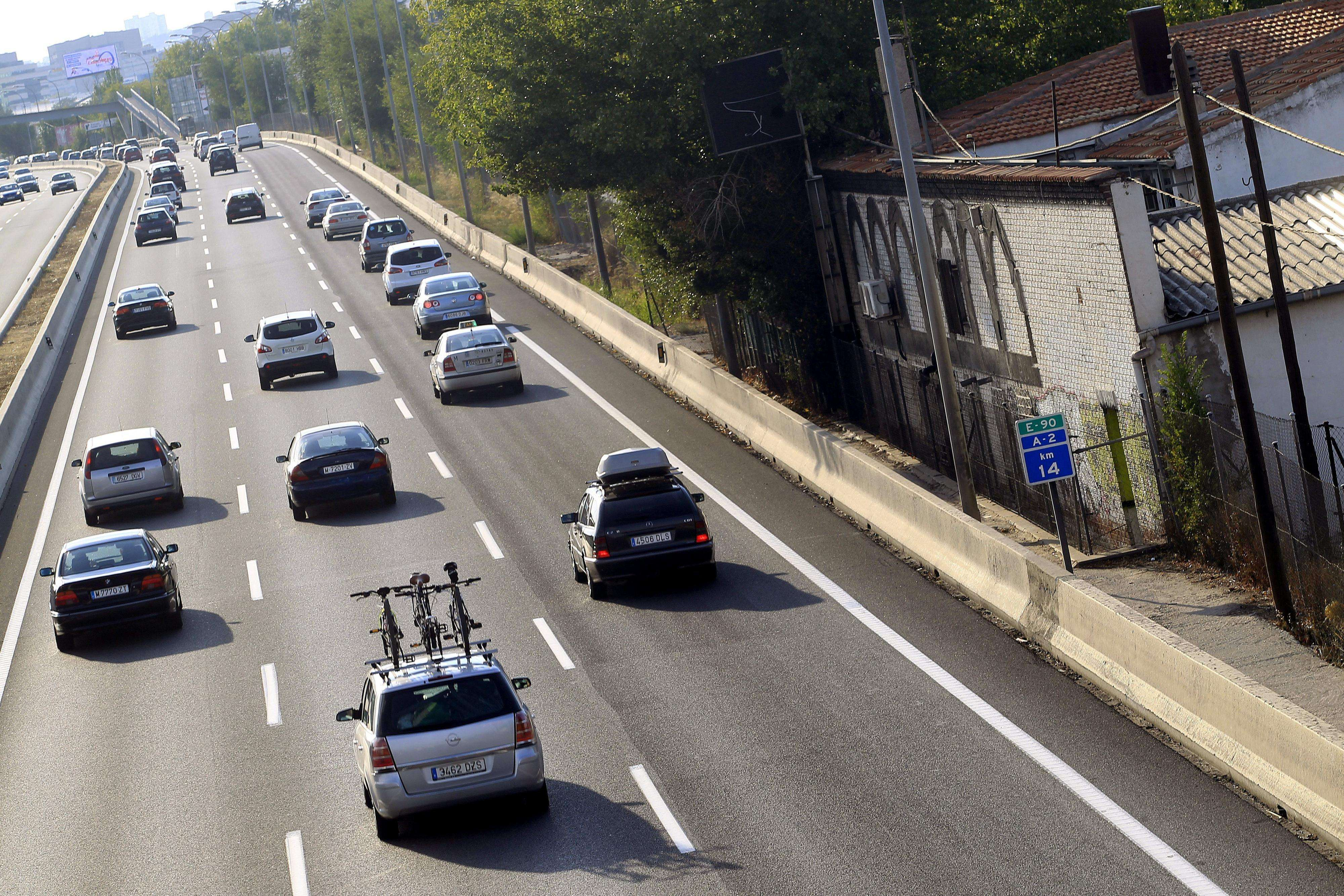 Estado de la circulación en la A-2, Carretera de Barcelona, dirección Madrid en una jornada en la que concluye el dispositivo especial de Tráfico con motivo del retorno de las vacaciones de verano. Foto: EFE