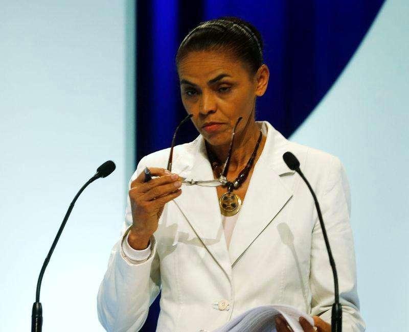 Candidata do PSB à Presidência, Marina Silva, durante debate no SBT em São Paulo. 02/09/2014 Foto: Paulo Whitaker/Reuters