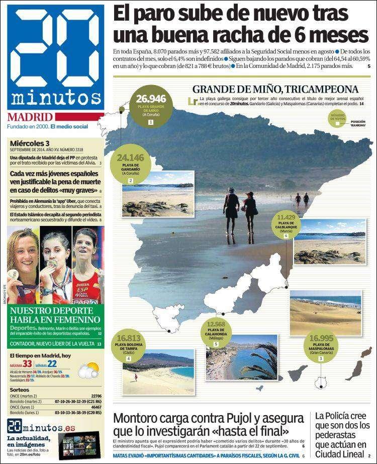 El desafío de Pujol a Mas, en portada