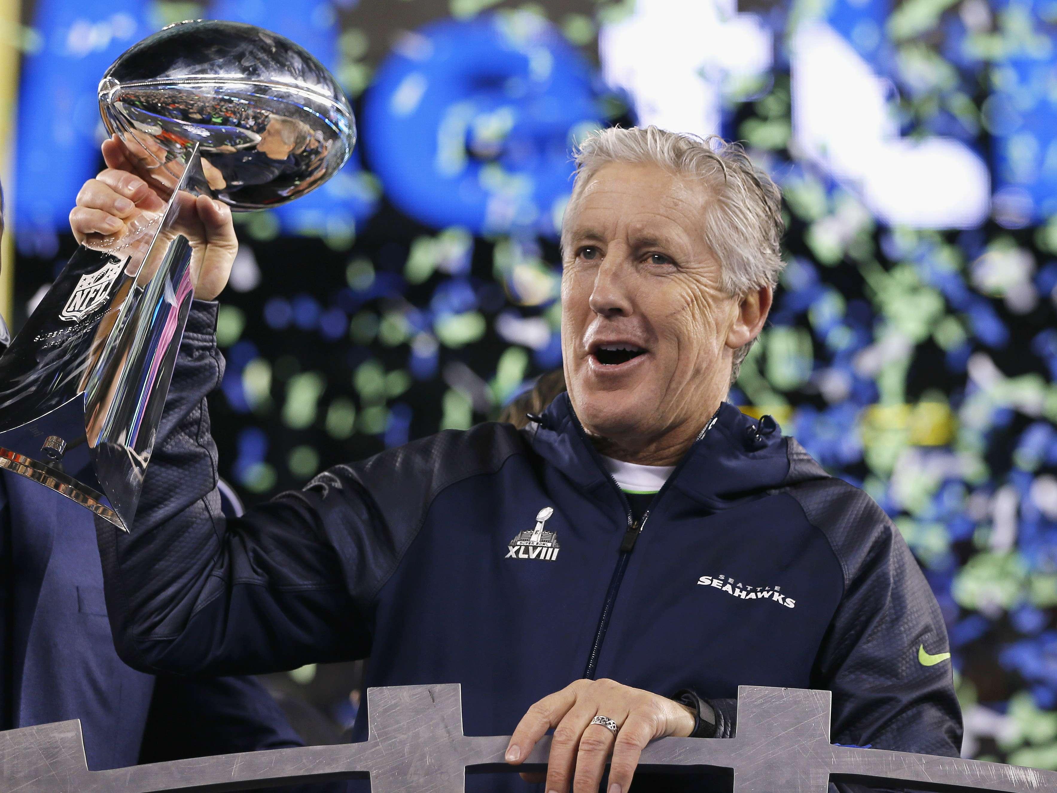 Carroll es el actual campeón de la NFL al ganar el Super Bowl XLVIII con Seattle Foto: Getty Images