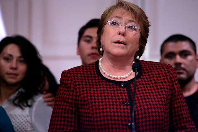 Según Adimark , aprobación de Michelle Bachelet disminuyó en 5 puntos Foto: Agencia Uno