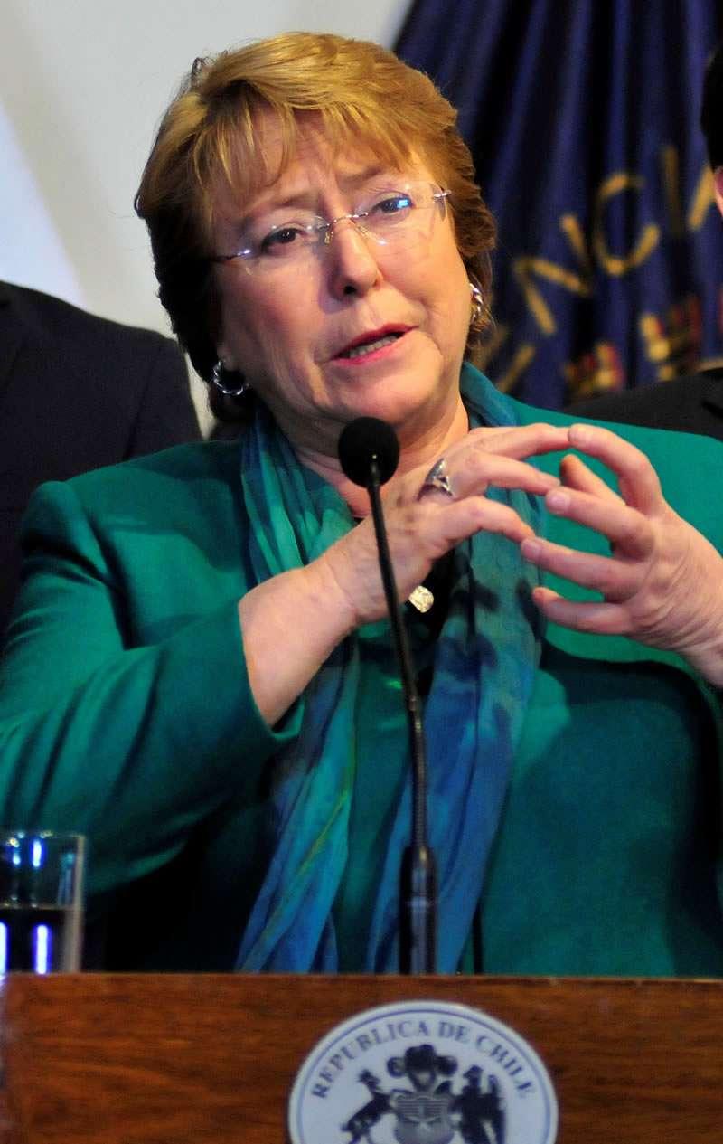Presidenta de la República, Michelle Bachelet Foto: UPI
