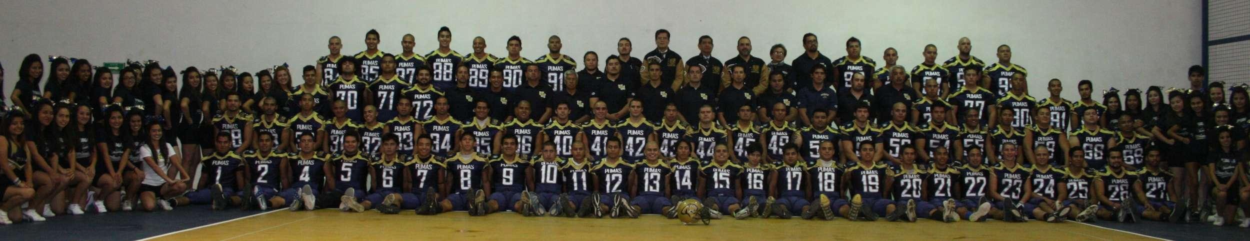 Foto oficial de los Pumas Acatlán 2014 Foto: TERRA
