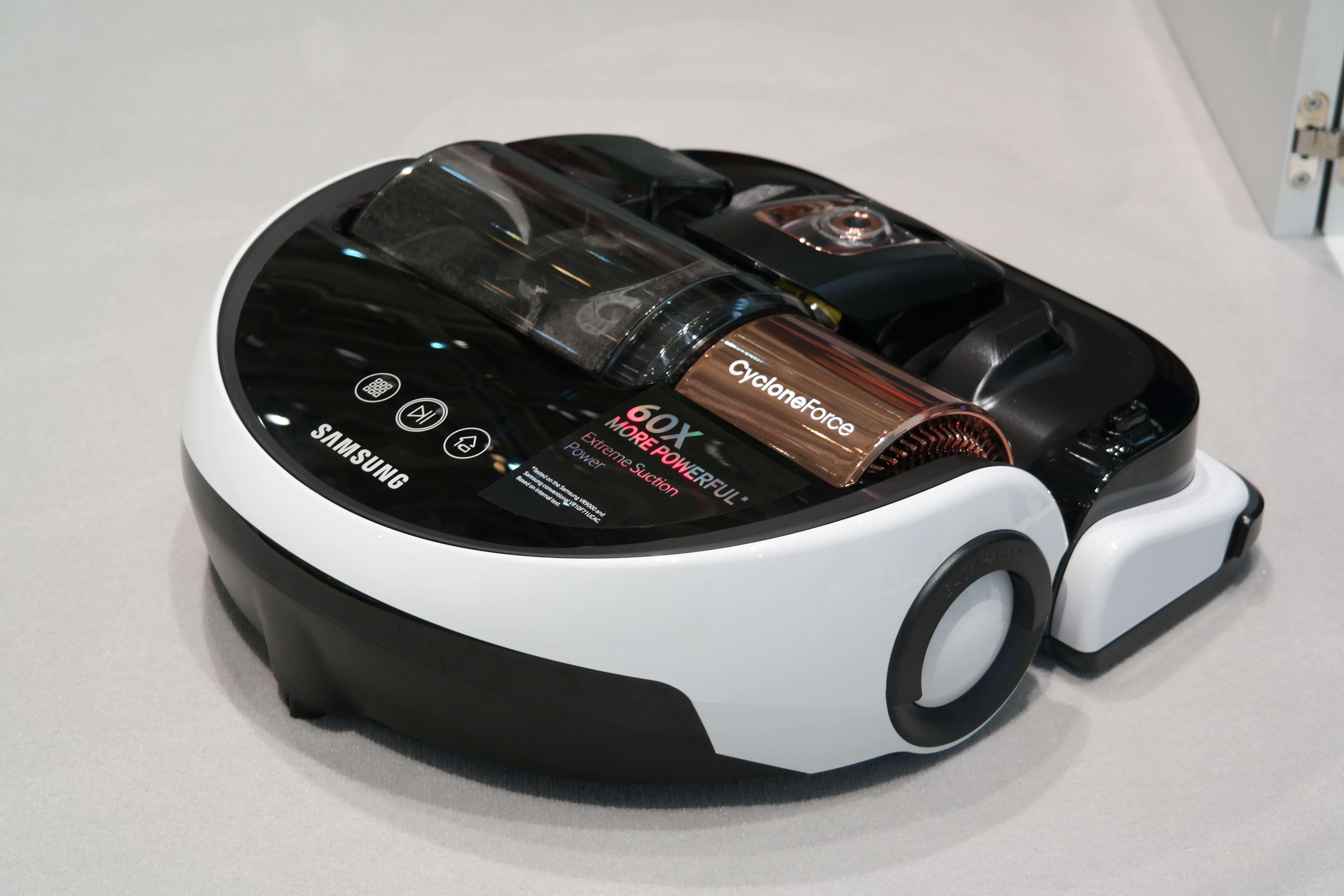 "Robô aspirador da Samsung é a nova aposta da marca coreana para a ideia de ""casa inteligente"" Foto: Mayara Baggio / Terra"