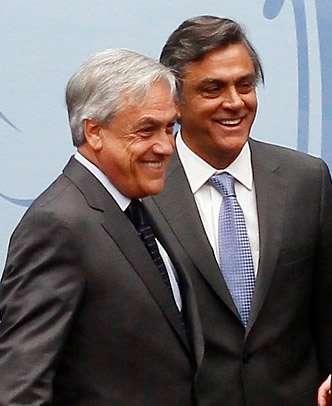 Pablo Longueira junto al ex Presidente Sebastián Piñera Foto: Agencia Uno