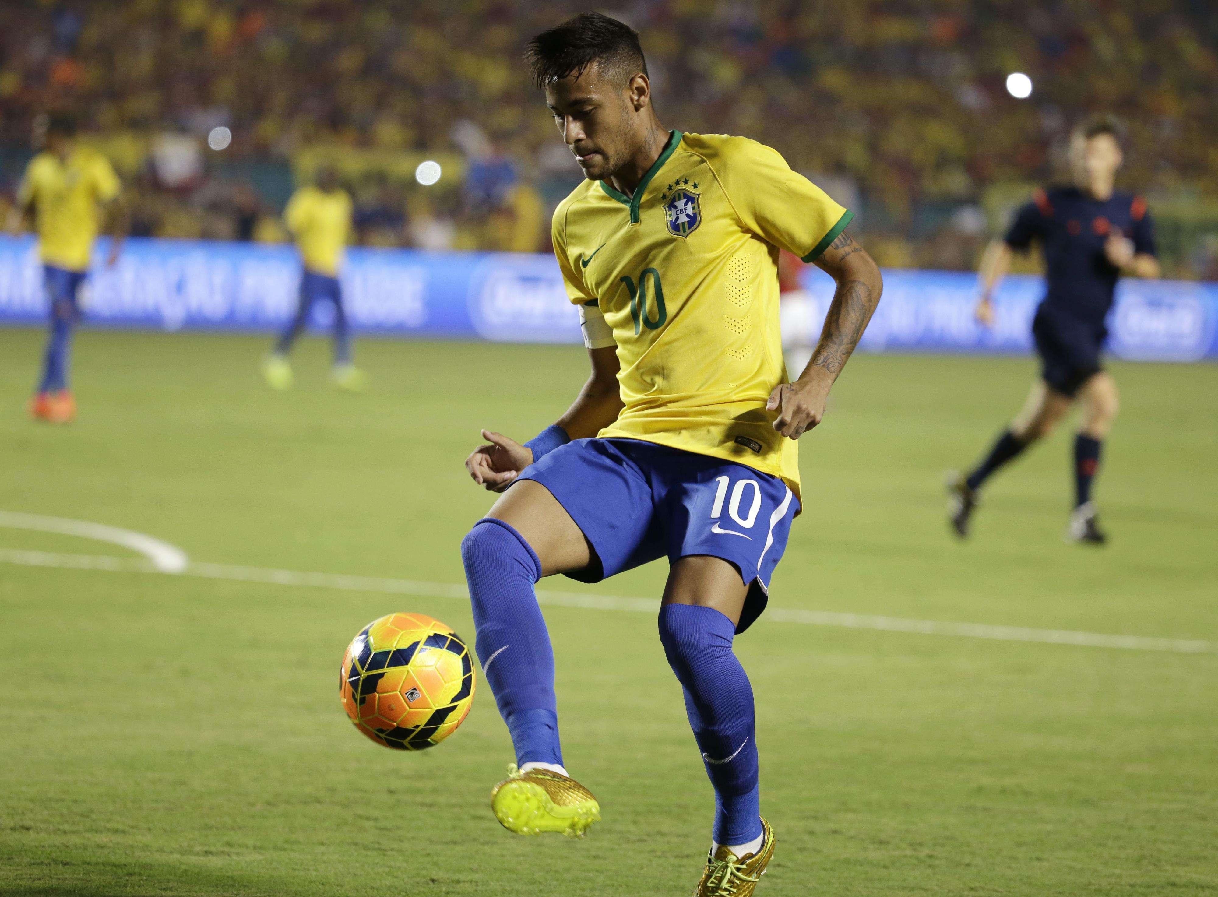 Neymar durante jogo contra a Colômbia Foto: Lynne Sladky/AP