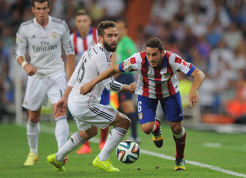 Dani Carvajal ante el Atlético de Madrid Foto: Getty