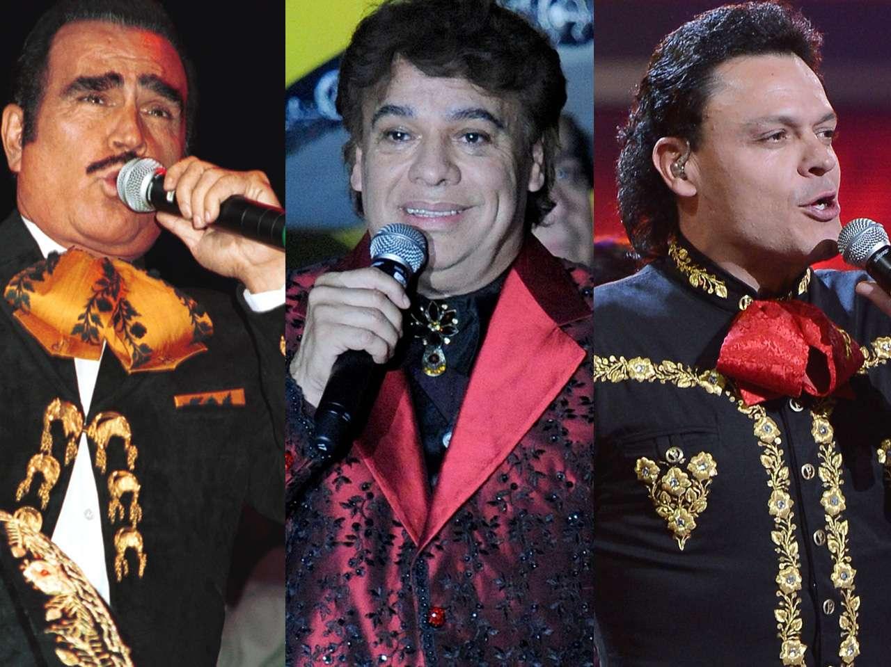 Juan Gabriel, Pedro Fernández, Vicente Fernádez Foto: Getty Images