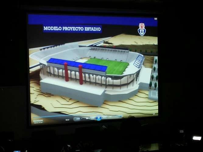 Así sería el estadio de la U. Foto: Reproducción