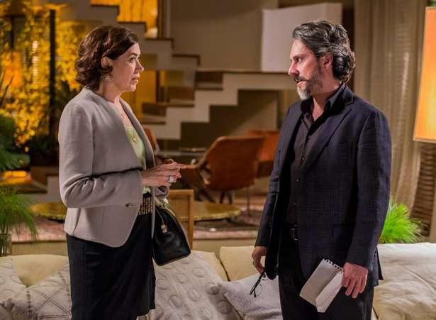 Maria Marta (Lilia Cabral) e José Alfredo (Alexandre Nero) em cena da novela. Foto: Divulgação