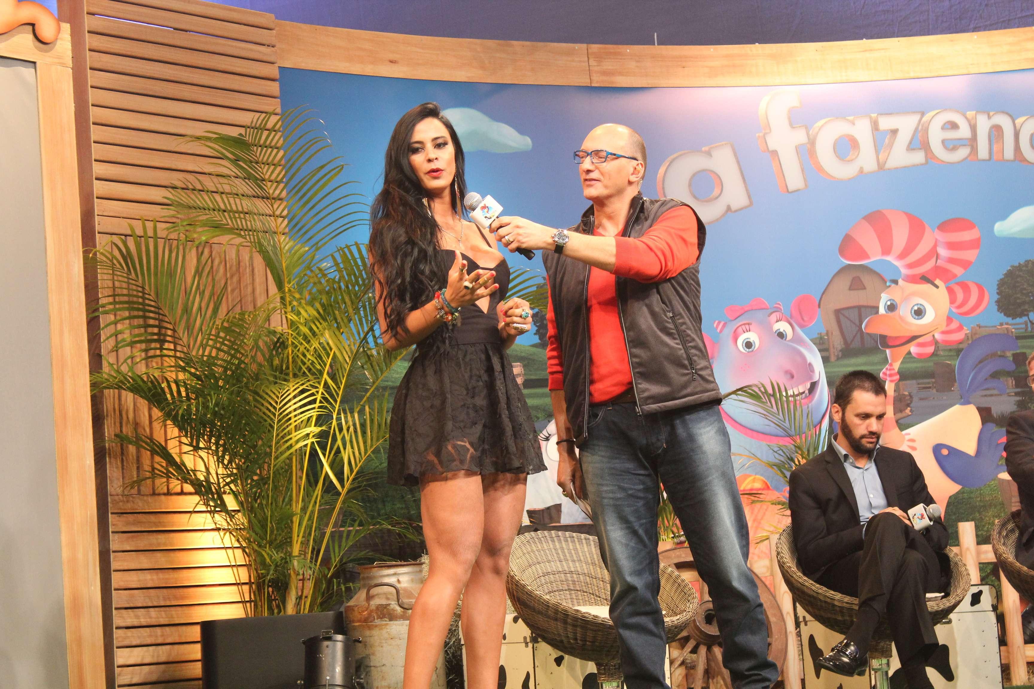 A equipe de 'A Fazenda' reuniu a imprensa na Rede Record, nesta quarta-feira (10), para divulgar detalhes da sétima edição do reality, que estreia no domingo (14) Foto: João Vieira/Terra