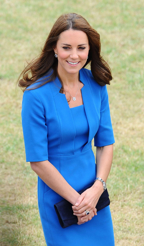 La duquesa de Cambridge quedó embarazada 13 meses de haber dado a luz a su primer hijo. La foto es del 5 de agosto de 2014. Foto: Getty Images