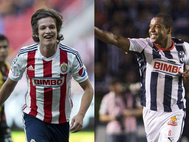 Carlos Fierro y Dorlan Pabon los delanteros que destacan por Chivas y Rayados. Foto: Mexsport