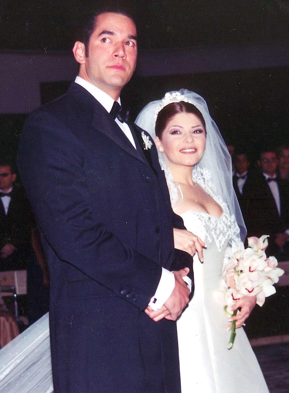 Itatí Cantoral y Eduardo Santamarina se casaron en 1998 y divorciaron en 2003. Foto: Mezcal
