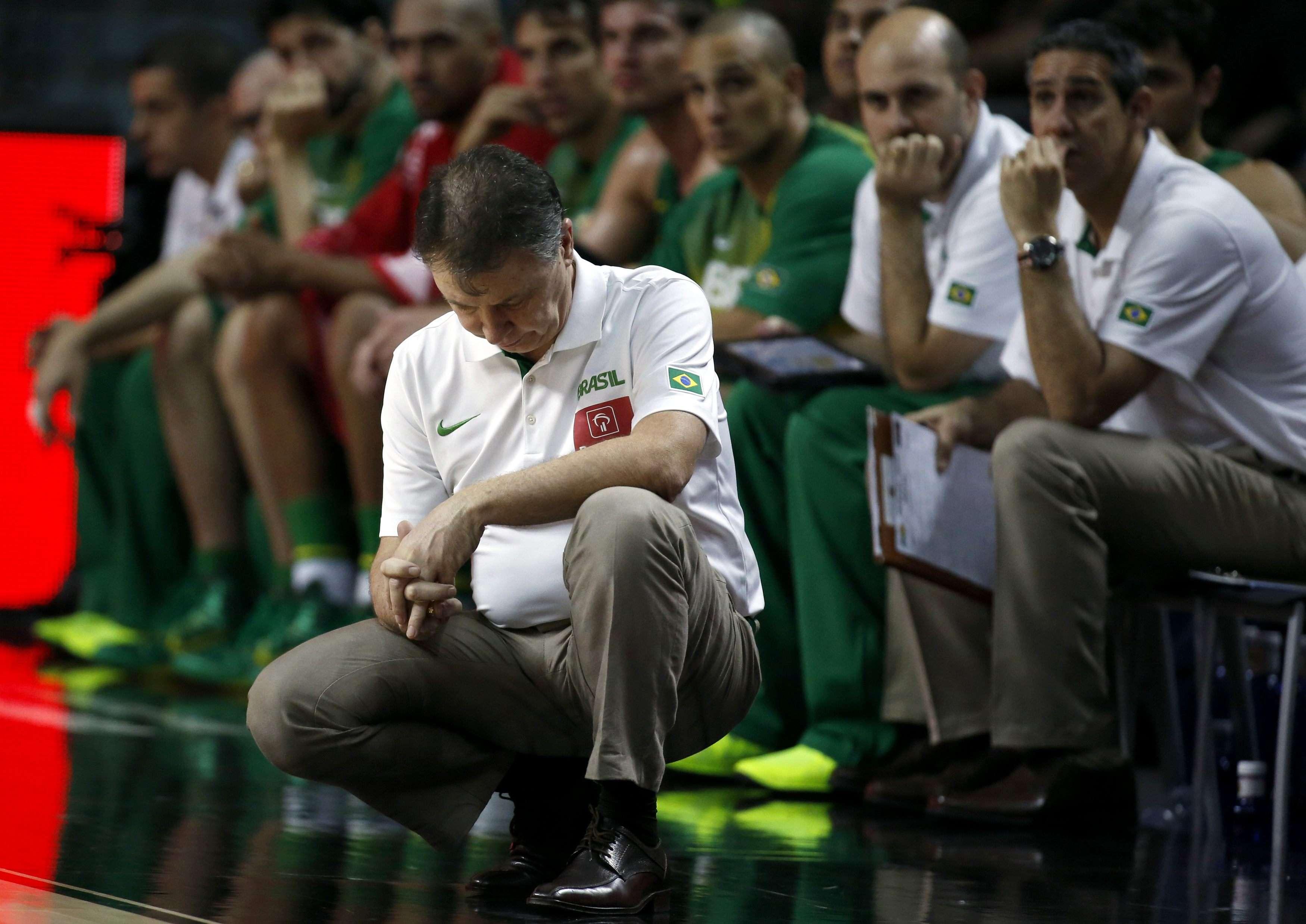 Magnano lamenta queda do Brasil nas quartas por larga diferença Foto: Sergio Perez/Reuters