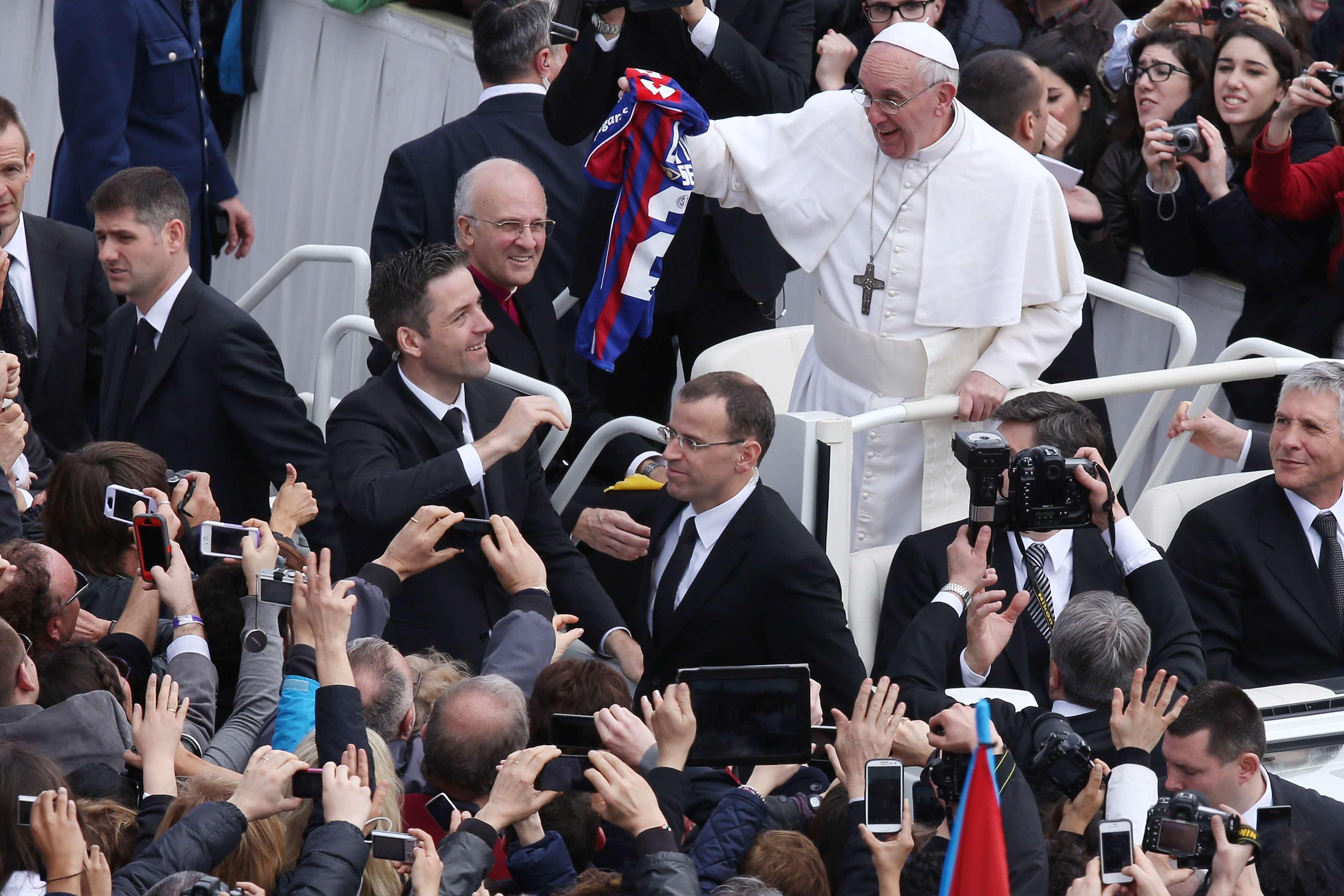 El Papa Francisco es hincha declarado de San Lorenzo. Foto: Getty Images
