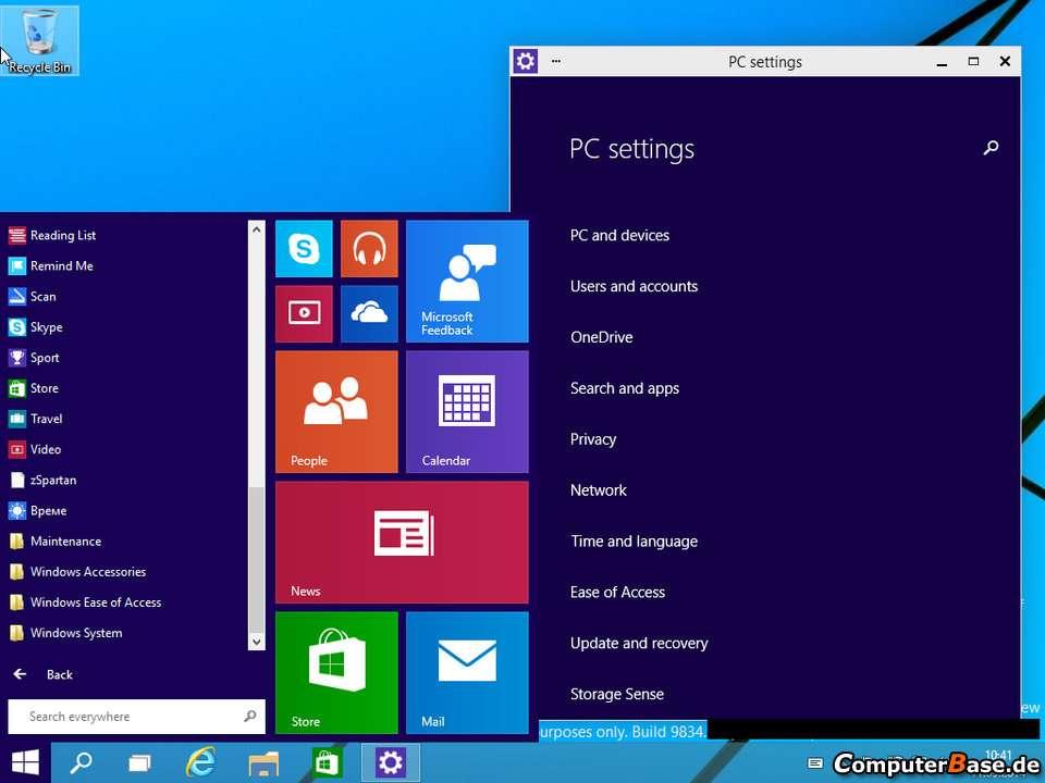 """Tela do Windows 9 surge novo botão """"Menu Iniciar"""" e ícones no estilo """"Metro"""" Foto: Computer Labs/Reprodução"""
