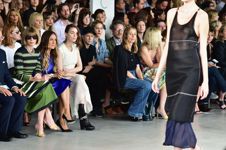 Calvin Klein mostrou sua coleção para o verão 2015 nesta quinta-feira (11), em Nova York Foto: Andrew H. Walker/Getty Images