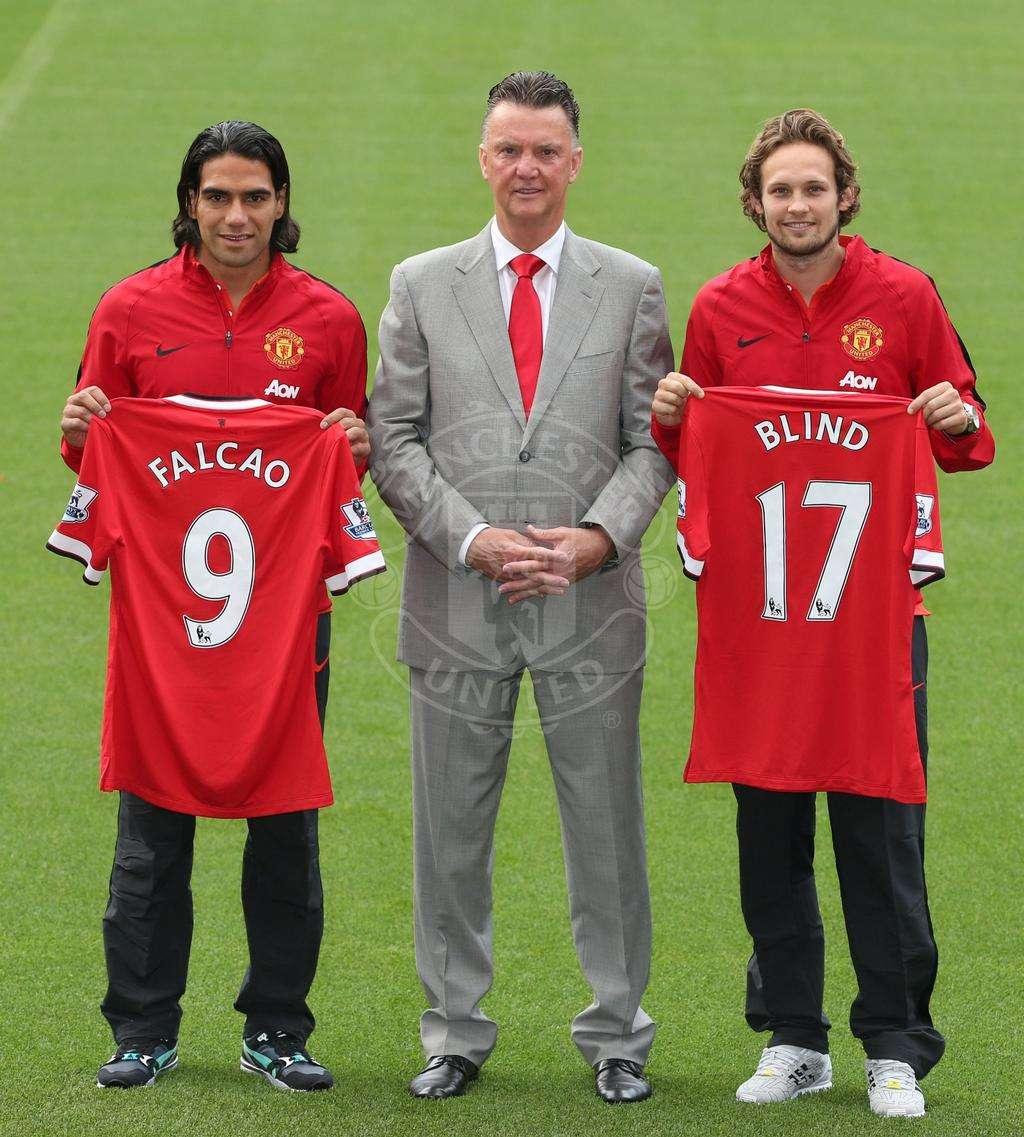 Falcao en su presentación. Foto: Manchester United