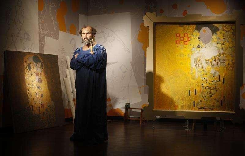 Imagem de cera do artista austríaco Gustav Klimt exibido no museu Madam Tussauds, em Viena. 20/3/2012 Foto: Herwig Prammer/Reuters
