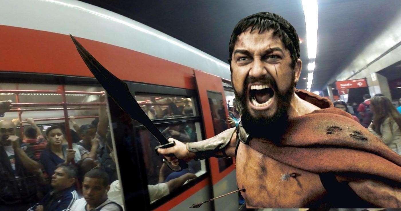 """""""Aqui é Esparta, mano!"""", fala em voz alta um dos passageiros em nossa viagem Foto: Arte Terra"""