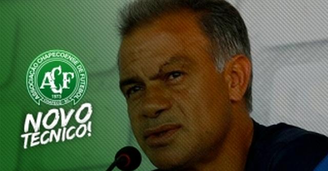 Jorginho é o novo técnico da Chapecoense Foto: Chapecoense.com/Divulgação