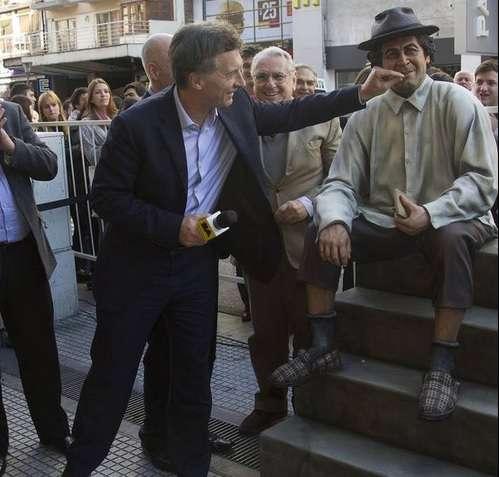 Minguito y Macri Foto: NA