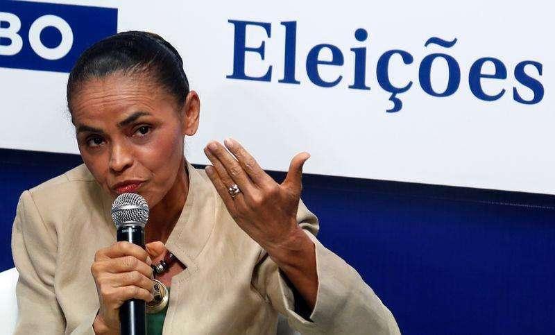 Candidata do PSB à Presidência, Marina Silva, em sabatina do jornal O Globo, no Rio de Janeiro. 11/9/2014. Foto: Pilar Olivares/Reuters