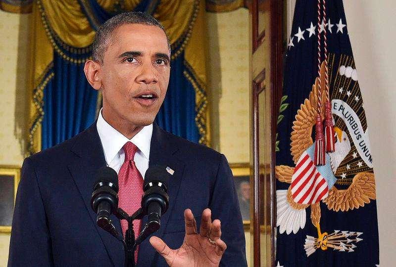 Presidente dos EUA, Barack Obama, durante pronunciamento para anunciar uma ação militar contra o Estado Islâmico, na Casa Branca, em Washington. 10/09/2014. Foto: Saul Loeb/Reuters