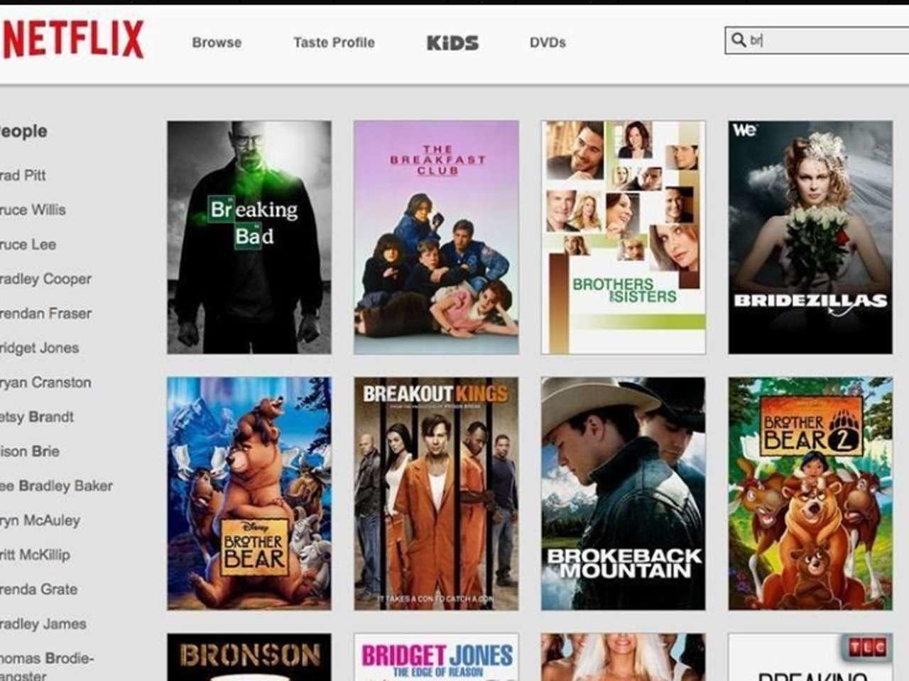 Si no recuerdas el nombre de la película pero sí al actor, Netflix desplegará todas las cintas disponibles de este Foto: Netflix