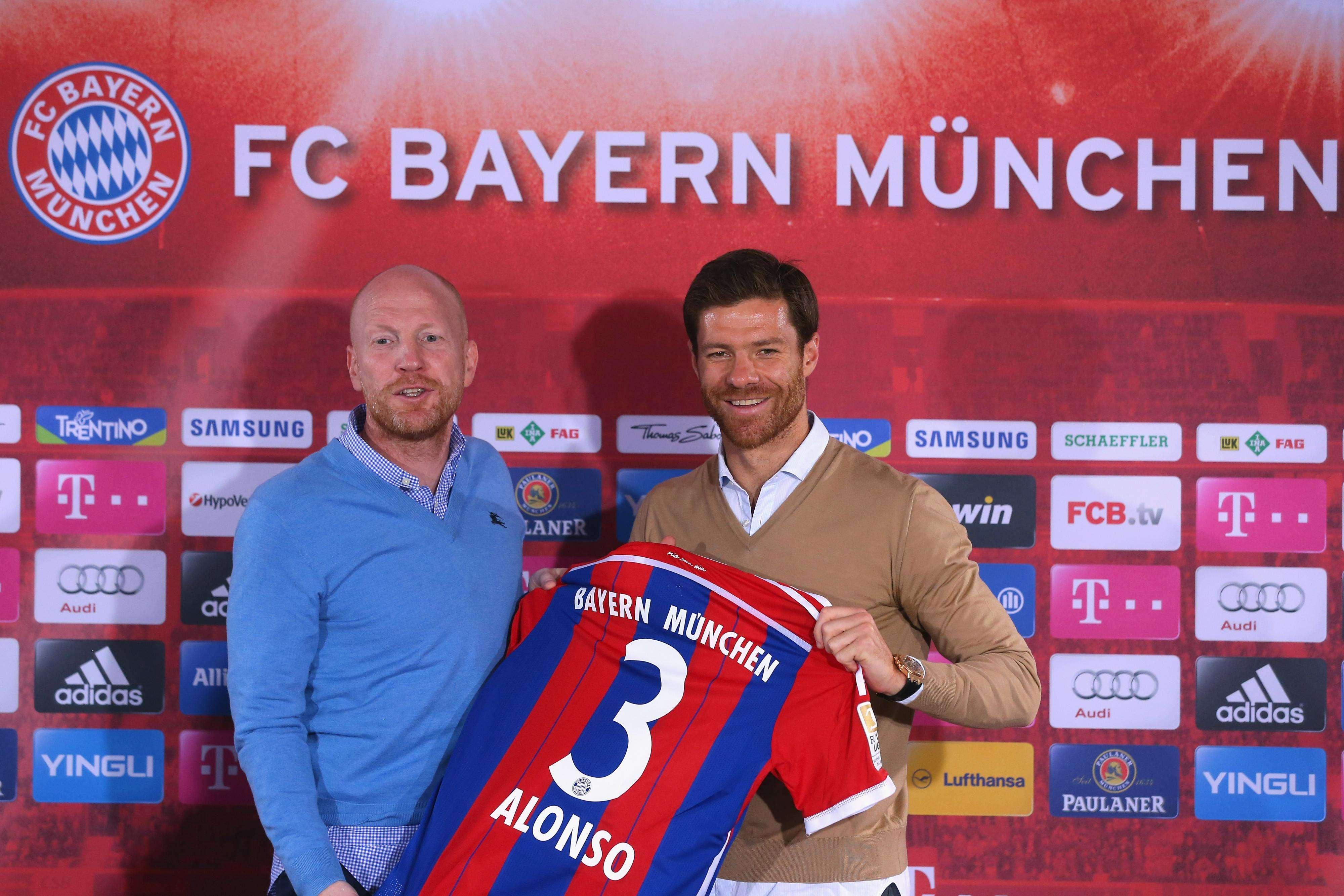 Xabi Alonso es presentado con el Bayern Múnich. Foto: AFP en español