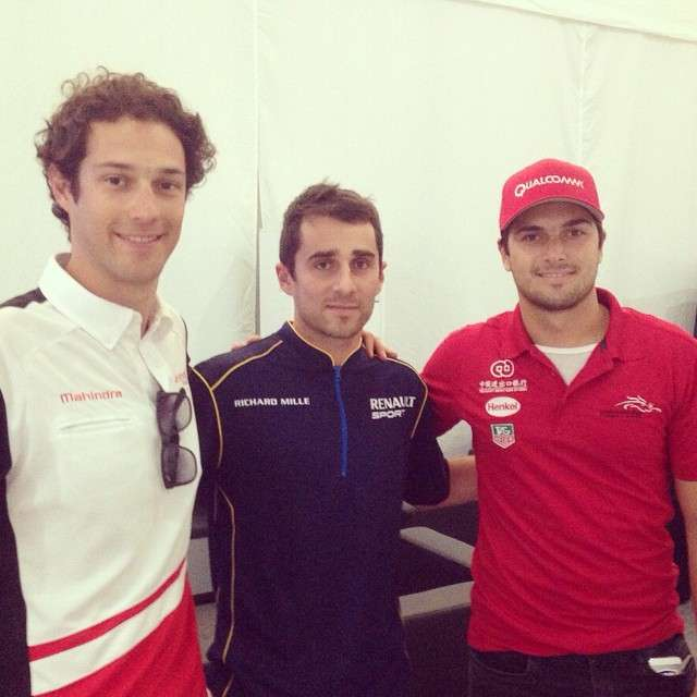 Bruno Senna, Nicolás Prost e Nelsinho Piquet Foto: Instagram/Reprodução