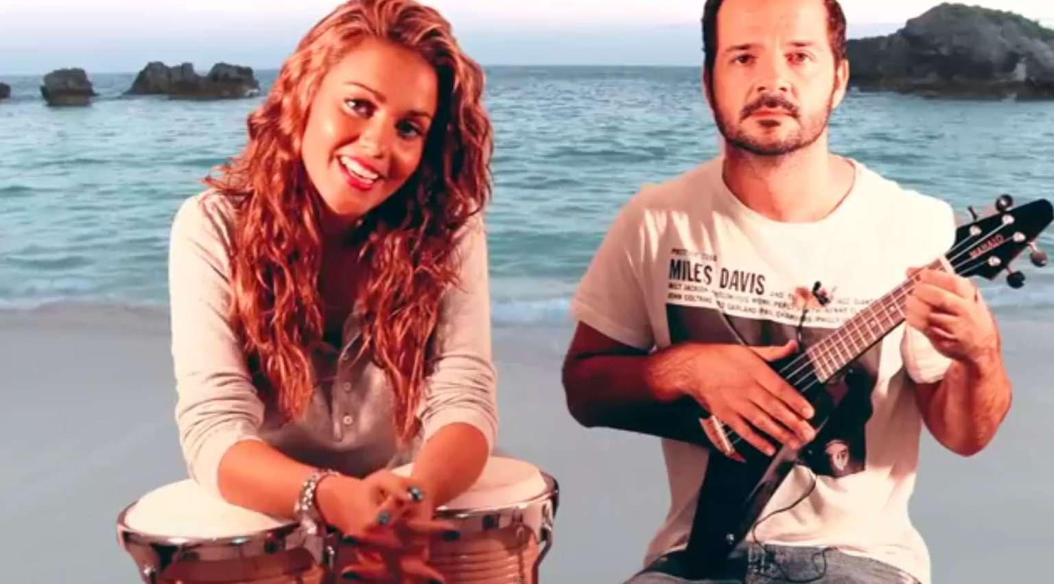 Ángel Martín y Lara Álvarez. Foto: TERRA
