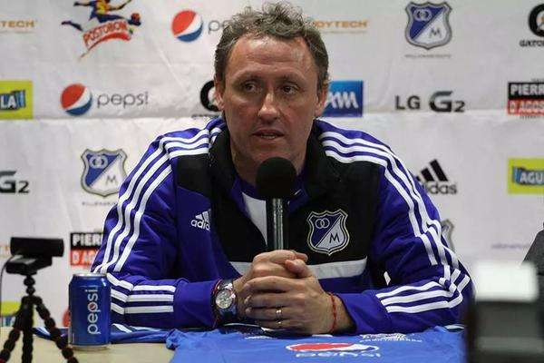 Ricardo Lunari, técnico de Millonarios. Foto: Reproducción Twitter