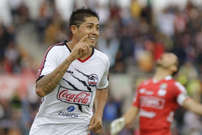 Diego Jiménez marcó los tres goles en el triunfo de Lobos BUAP 3-0 sobre Dorados. Foto: Imago7