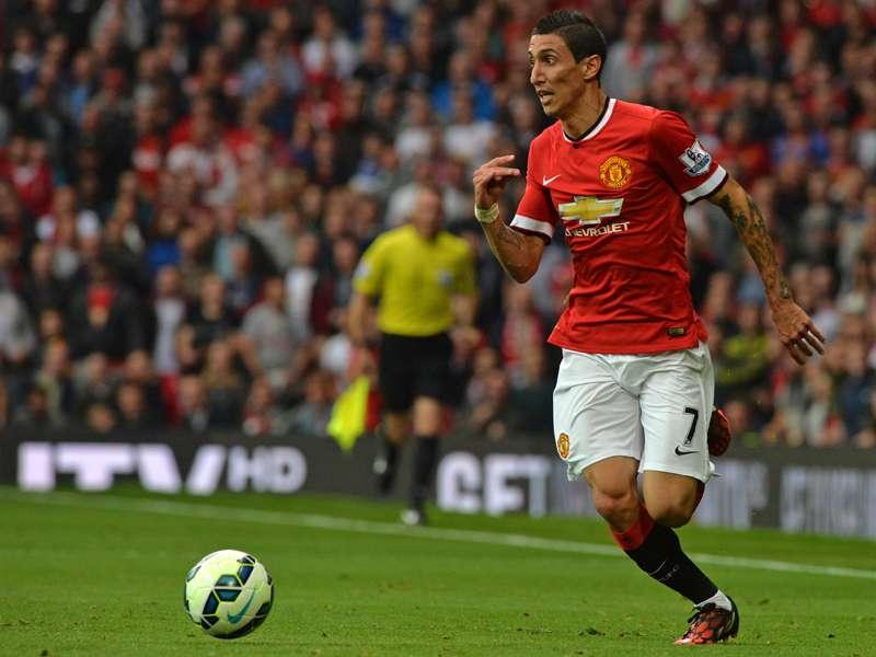 Ángel di María jugó su segundo partido con la camiseta del Manchester United. Foto: AFP