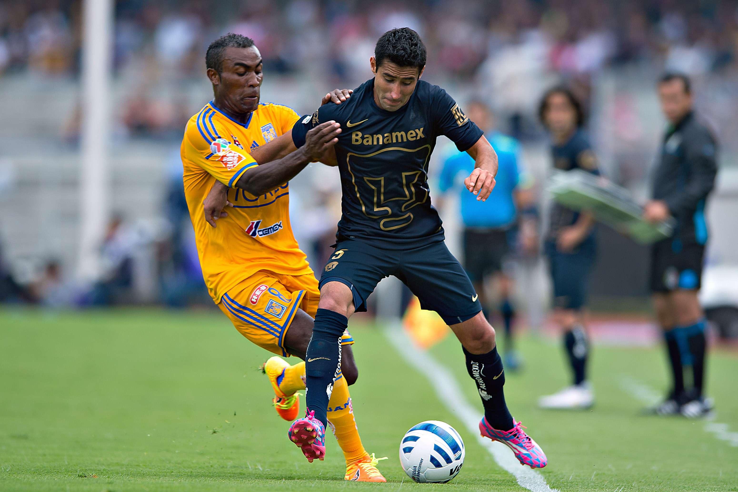 Cuatro goles se anotaron en el Pumas vs Tigres. Foto: Mexsport