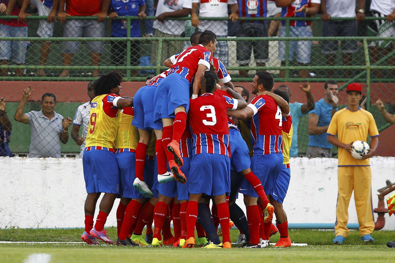 Bahia comemora vitória em casa Foto: Eduardo Martins/A Tarde/Futura Press
