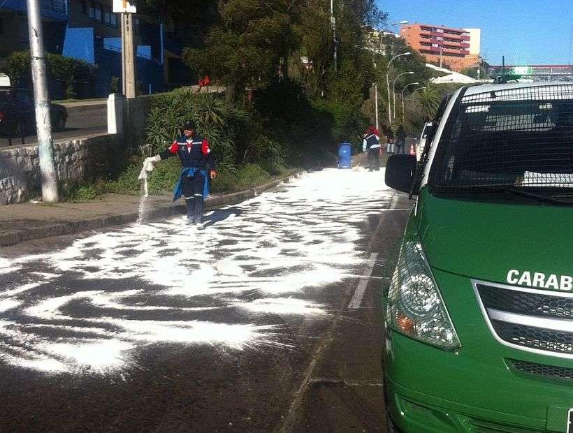 Imagen de la emergencia en Valparaíso. Foto: Reproducción SoyChile.cl