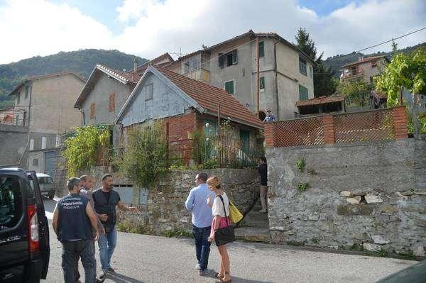 Casa onde o crime ocorreu, na cidade de Davagna, província de Gênova, noroeste da Itália Foto: ANSA
