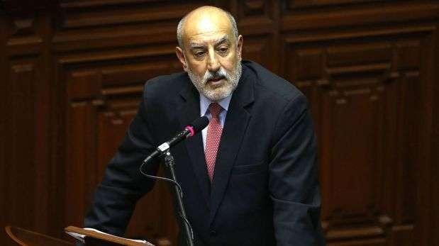 El ministro de Energía y Minas, Eleodoro Mayorga, fue interpelado el viernes por presunto conflicto de intereses. Foto: Andina