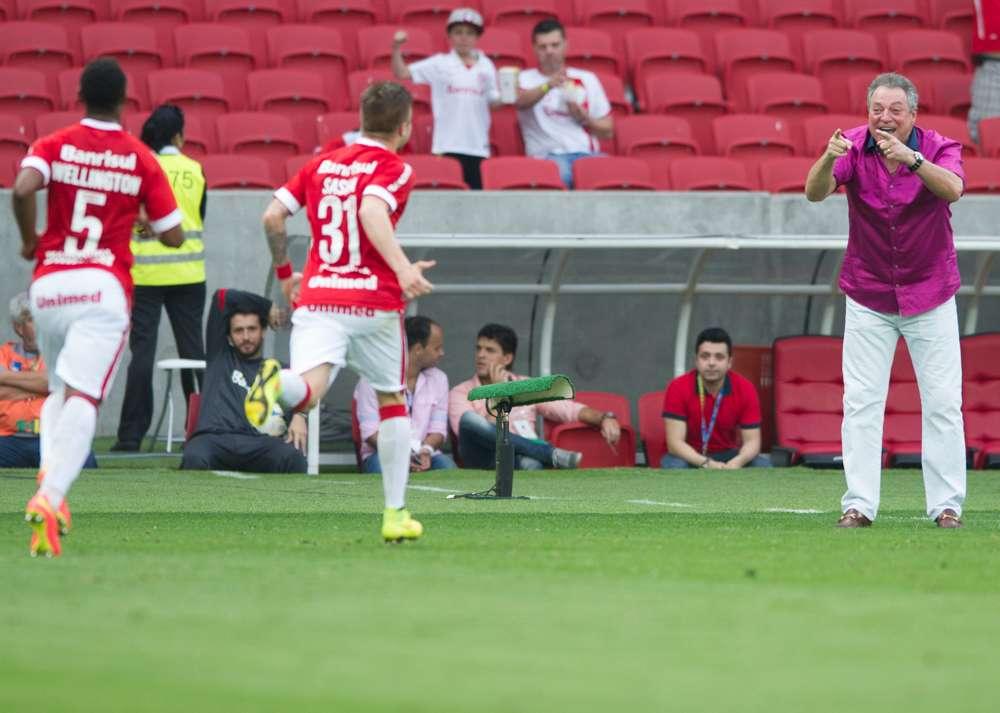 Sasha, comemora, gol, Internacional Foto: Alexandre Lops/Site oficial do Inter/Divulgação