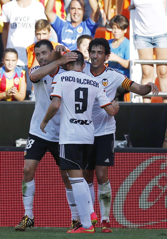 Valencia comemora; segunda colocação na Espanha Foto: Kai Forsterling/EFE