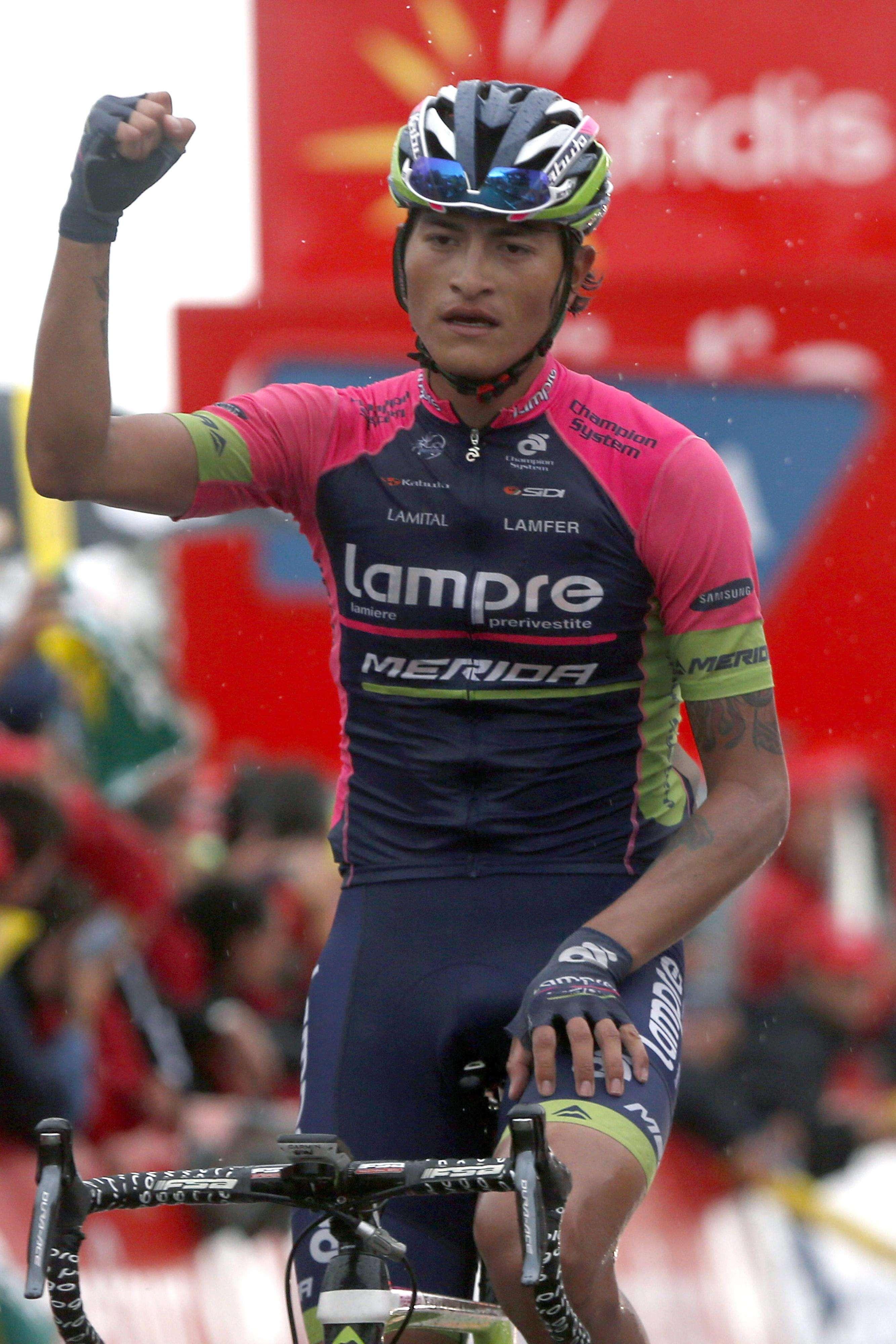 Winner Anacona, pedalista colombiano del Lampre Foto: EFE