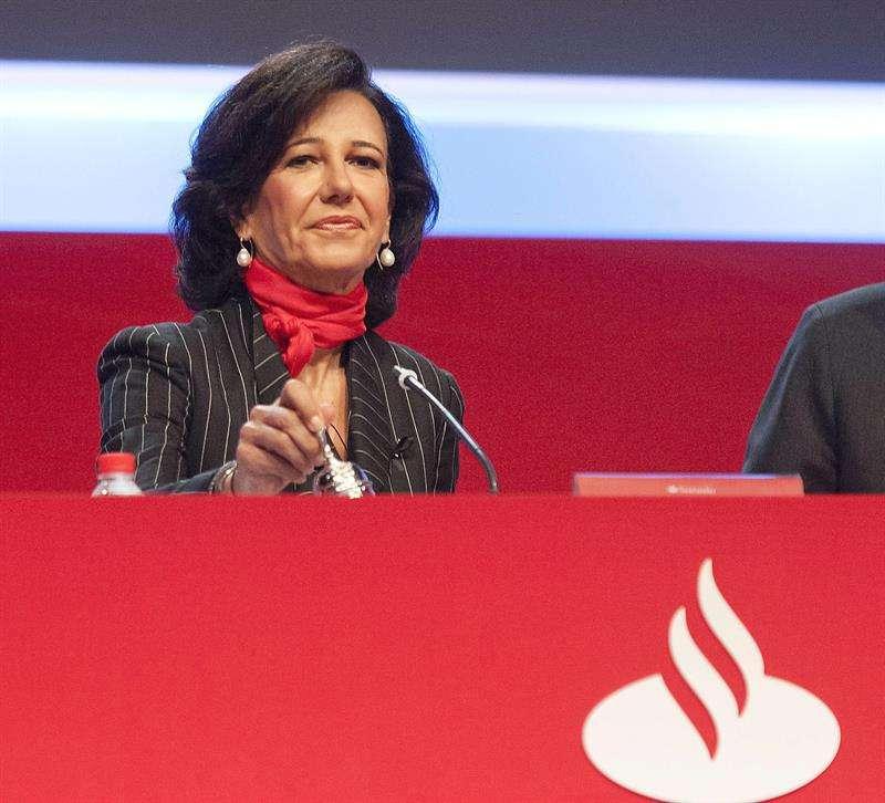 La presidenta del Grupo Santander, Ana Botín. Foto: PEDRO PUENTE HOYOS/EFE en español