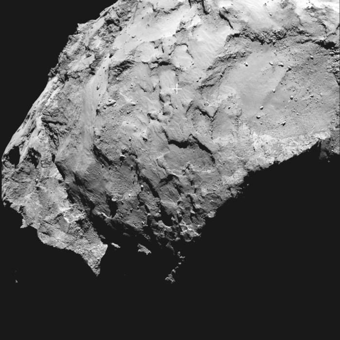Lugar en el que aterrizará la sonda Rosetta. Foto: ESA