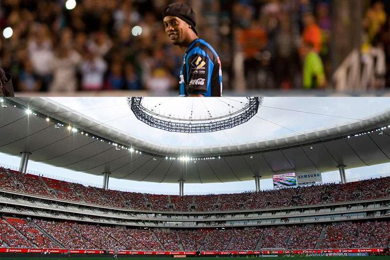 Ronaldinho podría debutar en la jornada 9, cuando Querétaro visite a Chivas en el estadio Omnilife. Foto: Imago7