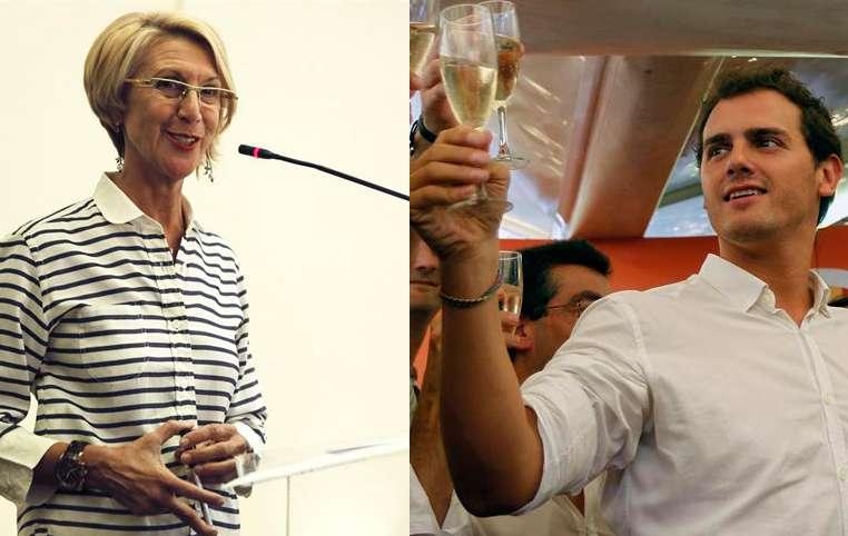 Rosa Díez y Albert Rivera Foto: EFE